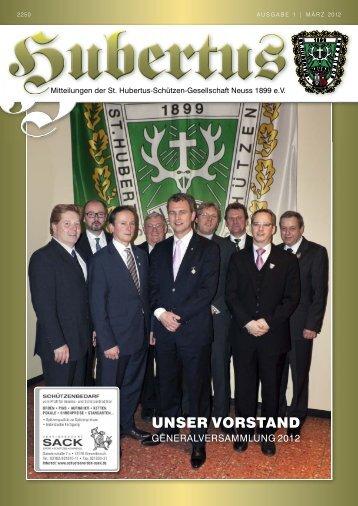 unser vorstand - St. Hubertus-Schützen-Gesellschaft Neuss 1899 eV