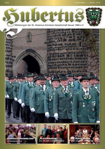 Mitteilungen der St. Hubertus-Schützen-Gesellschaft Neuss 1899 eV ...