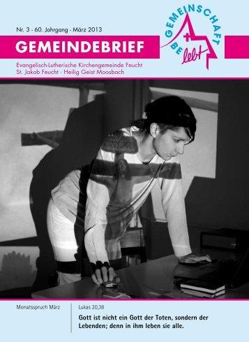 GEMEINDEBRIEF - Evang.-Luth. Kirchengemeinde Feucht