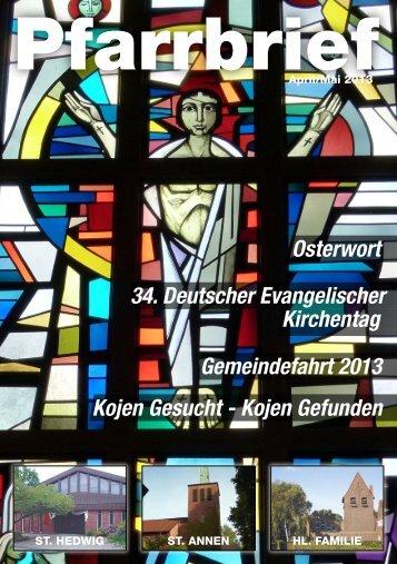 April / Mai 2013 - St. Hedwig Norderstedt