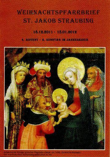 weihnachtspfarrbrief st. jakob straubing - Pfarrgemeinde St. Jakob