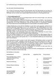 Zur Veröffentlichung im Amtsblatt der Gemeinde St. Johann am ...