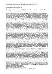 Zur Veröffentlichung im Amtsblatt der Gemeinde St - St. Johann