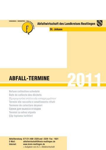 ABFALL-TERMINE - St. Johann