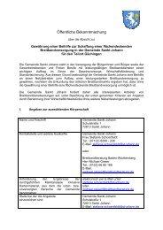 Ausschreibung St Johann Gächingen