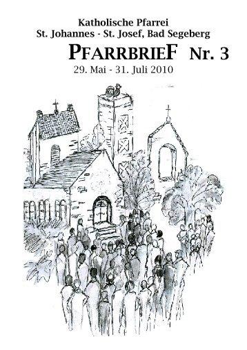 PFARRBRIEF Nr. 3 - Katholische Pfarrei St. Johannes - St. Josef