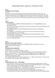 Kurzprotokoll der PGR – Sitzung vom 7. 10. 2009 um 19 ... - St. Josef