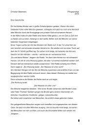 1 Christian Balemans Pfingstpredigt 2010 Eine Geschichte Ein ...
