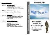 Kirchweih 2009 Wir laden Sie herzlich ein - St-josef-nuernberg.de