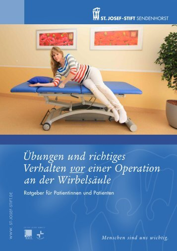 Übungen und richtiges Verhalten vor Wirbelsäulenoperationen