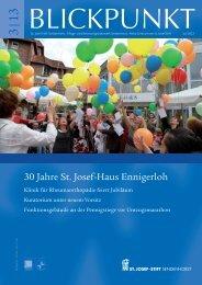 Blickpunkt 3/13 - St. Josef-Stift Sendenhorst
