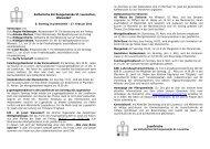 Pfarrnachrichten zum 08. Sonntag im Jahreskreis - 27. Februar 2011