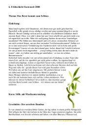 6. Frühschicht Fastenzeit 2008 Thema: Das Beste kommt zum ...
