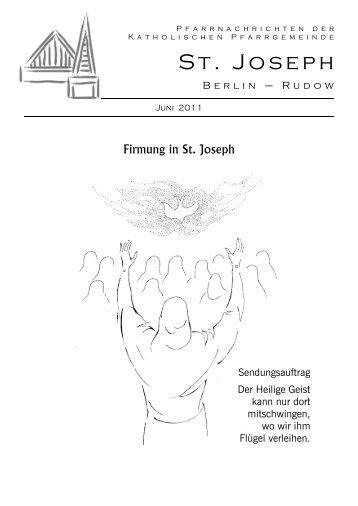 Pfarrnachrichten der - St-joseph-berlin.de