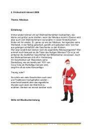 2. Frühschicht Advent 2009 Thema: Nikolaus Einleitung - Kath ...