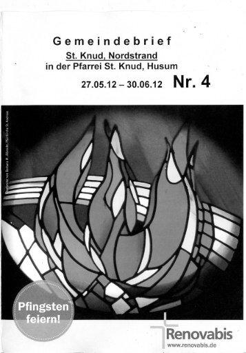 Gemeindebrie.f - Kath. Kirchengemeinde St. Knud Nordstrand