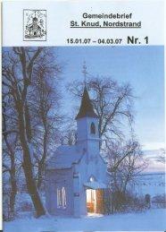 15.01.07- 04.03.07 N r. 1 - Kath. Kirchengemeinde St. Knud ...