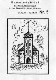 Gemeindebrief - Kath. Kirchengemeinde St. Knud Nordstrand