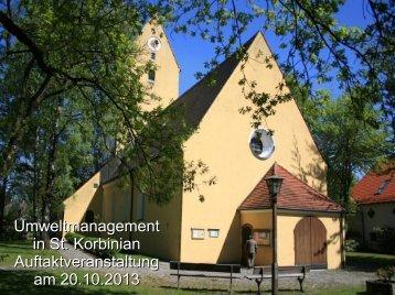 Auftakt Umweltmanagement St. Korbinian