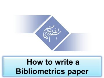 thesis on bibliometrics Bibliometrics uses statistical methods to quantitatively analyze the impact of scientific articles, journals, researchers, and institutions.