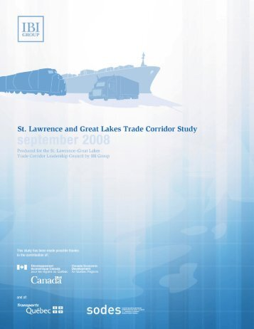 St. Lawrence and Great Lakes Trade Corridor Study - SODES