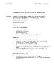 Protokoll der Sitzung des Pfarrgemeinderates vom 21 - Website der ...