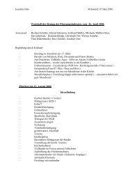 Protokoll der Sitzung des Pfarrgemeinderates vom 26 - Website der ...