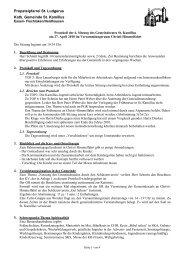Protokoll der Sitzung des Pfarrgemeinderates Christi Himmelfahr