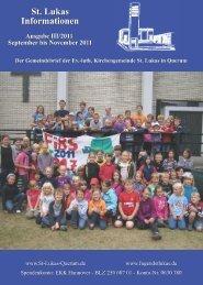 St. Lukas Informationen 2011-III - Evangelische Kirchengemeinde St ...