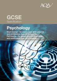 Psychology exam board specification - St Luke's Science and Sports ...
