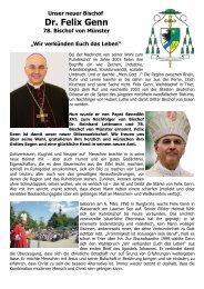 Dr. Felix Genn - Die Pfarrei St.Maria - Königin des Friedens