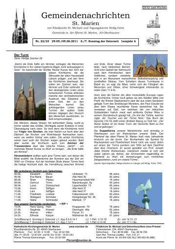 Nr_22_23_28.-29.05. - St. Marien Oberhausen - Katholische ...