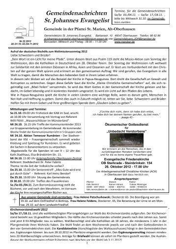 GN_22.2012_20.21.10... - St. Marien Oberhausen - Katholische ...