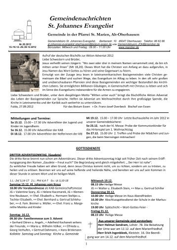 GN_26.2012_15.16.12 - St. Marien Oberhausen - Katholische ...