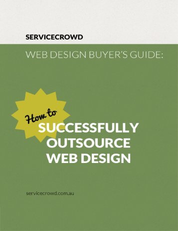 Web Design Buyer's Guide eBook by ServiceCrowd