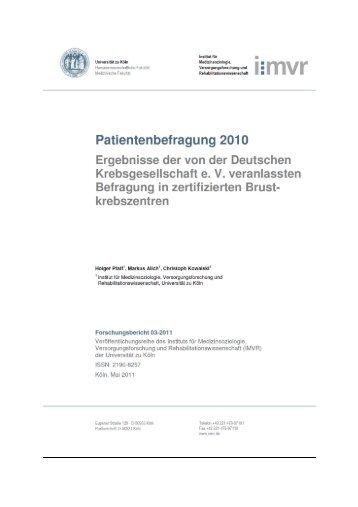 Patientenbefragung 2010
