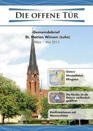 neuste Ausgabe der Offenen Tür - St. Marien in Winsen