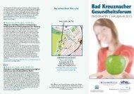 Bad Kreuznacher Gesundheitsforum - Krankenhaus St. Marienwörth