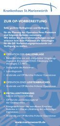 St.M-Flyer Checkliste OP 7.4.indd - Krankenhaus St. Marienwörth