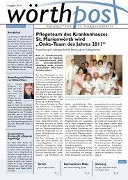 Onko-Team des Jahres 2011 - Krankenhaus St. Marienwörth