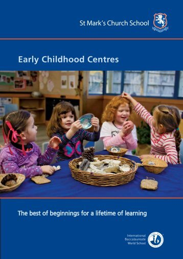 Early Childhood Centres - St Mark's Church School