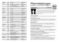 Pfarrmitteilungen 4. Fastensonntag 2013 - Katholische ...
