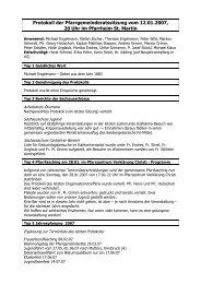 Protokoll der Pfarrgemeinderatssitzung vom 12.01.2007, 20 Uhr im ...