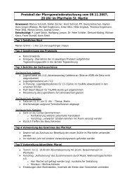 Protokoll der Pfarrgemeinderatssitzung vom 09.11.2007, 20 Uhr im ...