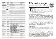 Pfarrmitteilungen 5. Sonntag im Jahreskreis 2013 - Katholische ...