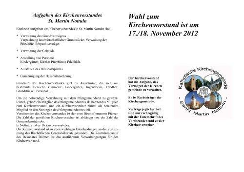Info-Flyer zu den KV-Wahlen - Katholische Pfarrgemeinde St. Martin ...