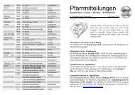 Pfarrmitteilungen 5. Sonntag in der Osterzeit - Katholische ...