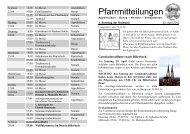 Pfarrmitteilungen vom 3. Sonntag der Osterzeit - Katholische ...