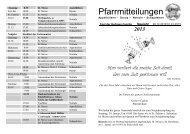 Pfarrmitteilungen Fest der Heiligen Familie und Neujahr 2012