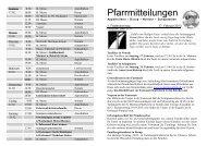 Pfarrmitteilungen 1. Fastensonntag 2013 - Katholische ...